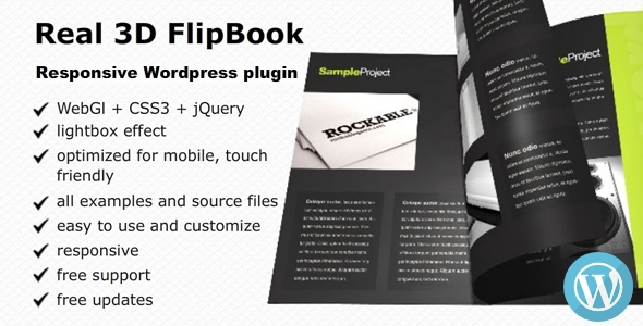 3D FlipBook WordPress Plugin